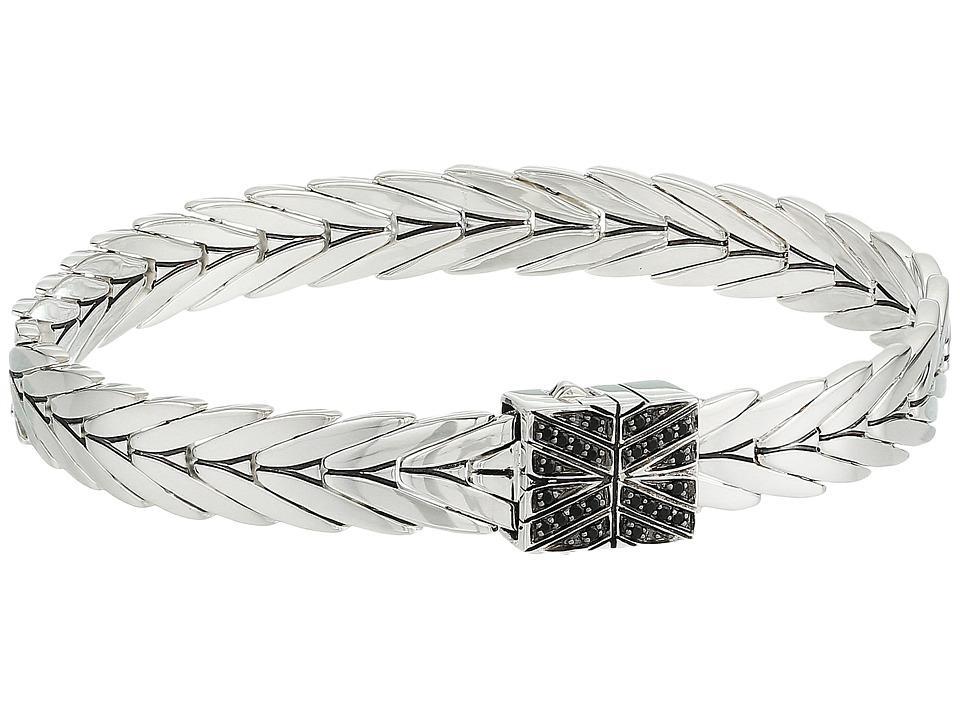John Hardy - Modern Chain Bracelet 8mm with Black Spinel (Silver) Bracelet