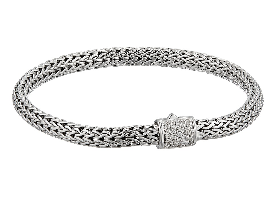 John Hardy - Classic Chain 5mm Bracelet with Diamonds (Silver) Bracelet