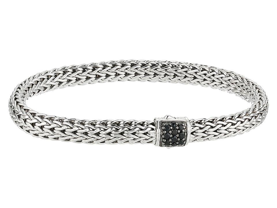John Hardy - Classic Chain 6.5mm Bracelet with Black Sapphire (Silver) Bracelet