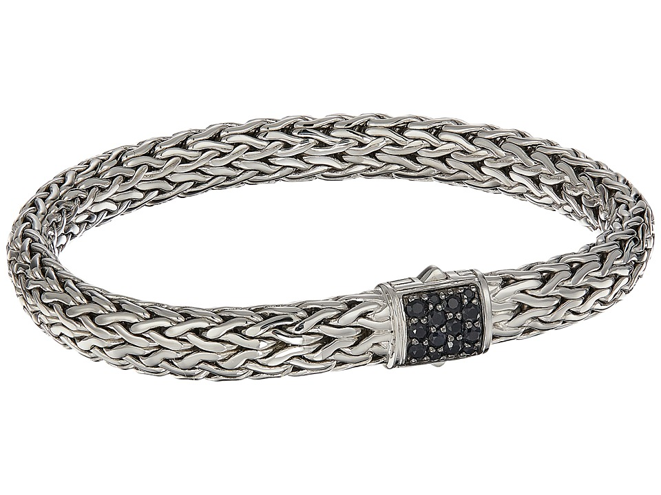 John Hardy - Classic Chain 7.5mm Bracelet with Black Sapphire (Silver) Bracelet