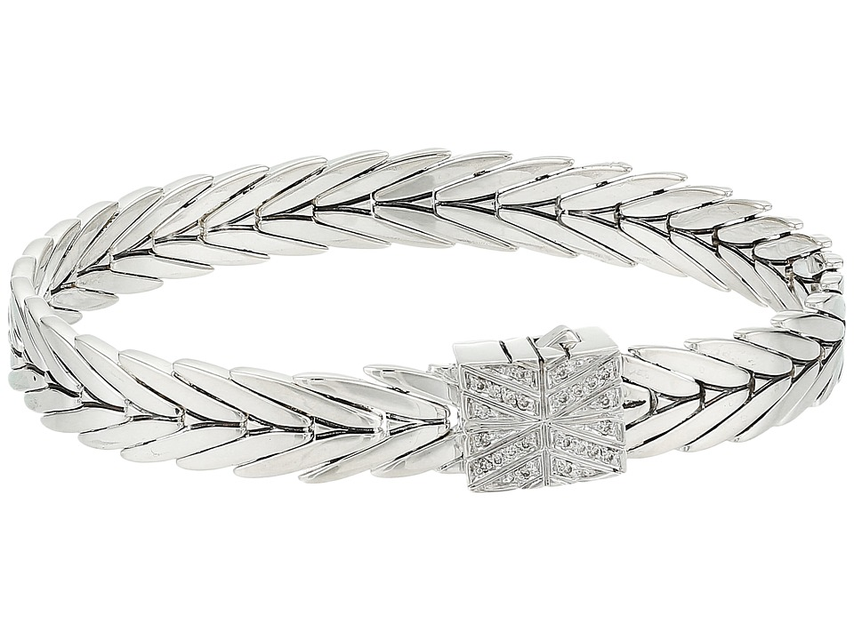 John Hardy - Modern Chain Diamond Bracelet 8mm (Silver) Bracelet