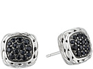 John Hardy Classic Chain Stud Earrings with Black Sapphire