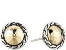 John Hardy Classic Chain Round Hammered Stud Earrings