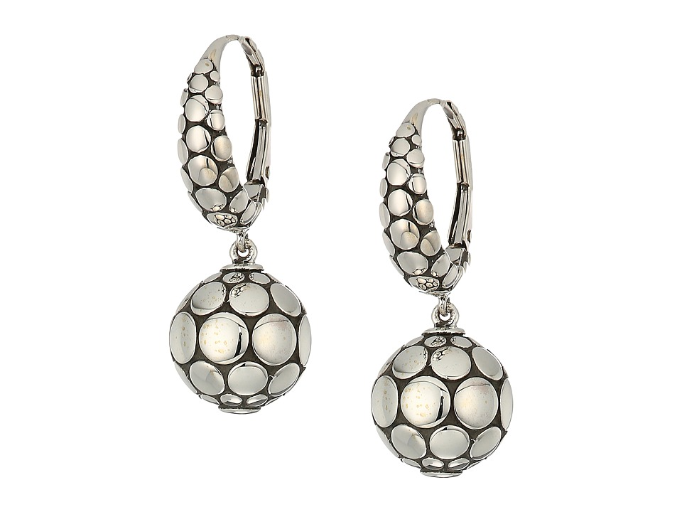 John Hardy - Dot Drop Earrings (Silver) Earring