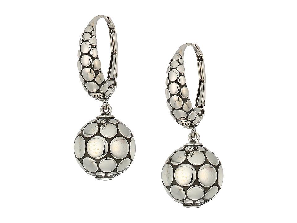 John Hardy - Dot Drop Earrings (Silver) Earring