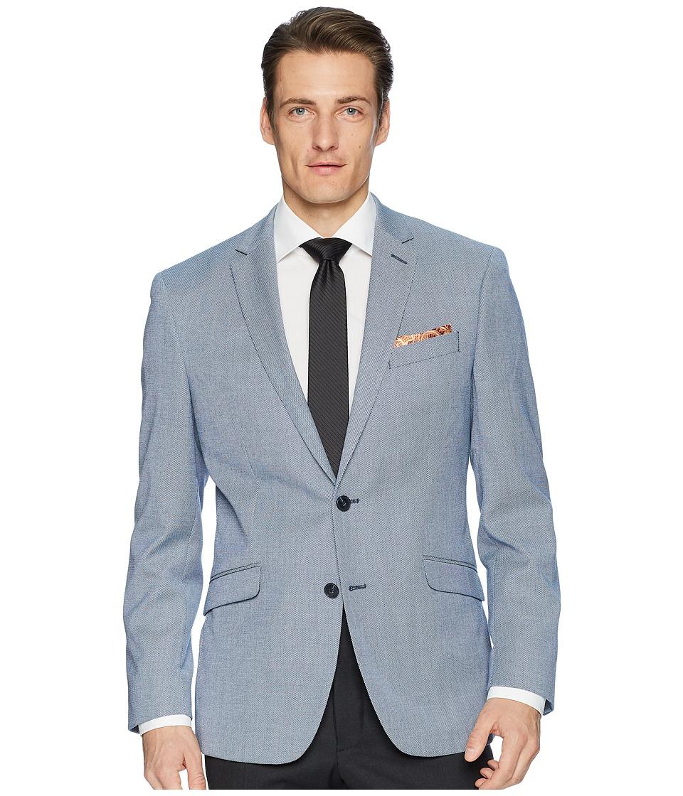 Kenneth Cole Reaction - Textured Sport Coat (Blue/White) Mens Jacket