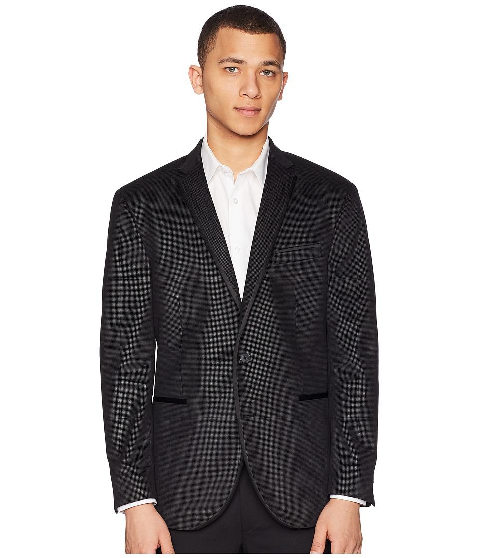 Kenneth Cole Reaction - Dot Sport Coat (Black/Grey) Mens Jacket