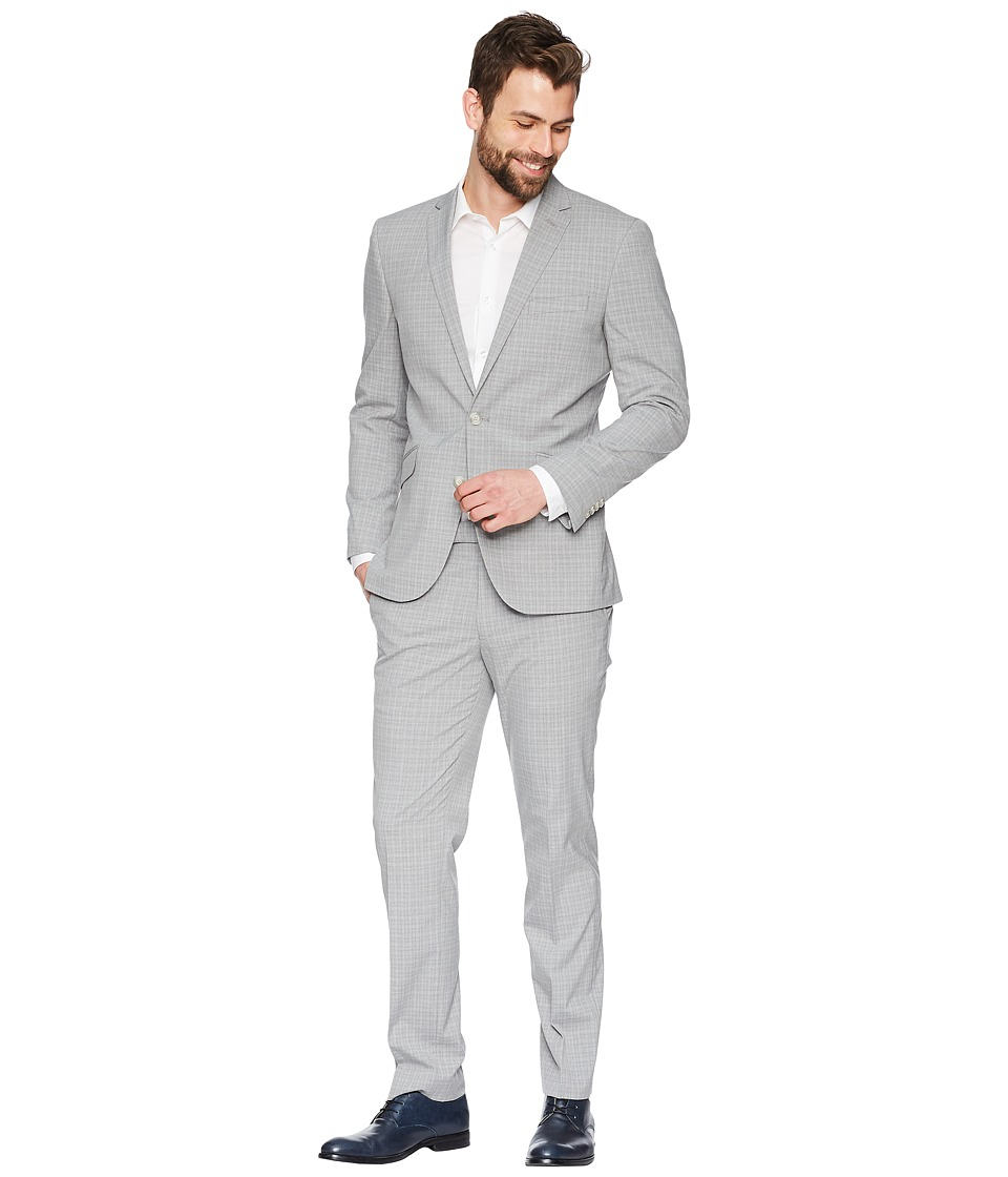 Kenneth Cole Reaction - Tonal 32 Finished Bottom Suit (Grey) Mens Suits Sets