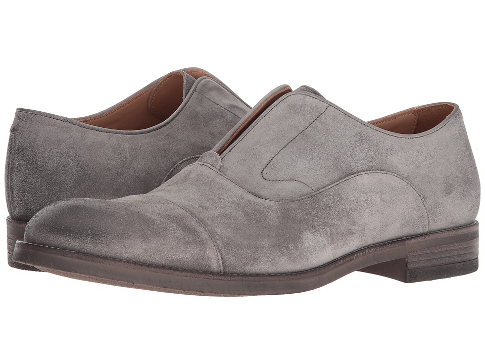 John Varvatos Collection - Varick Laceless Oxford (Steel Grey) Mens Lace up casual Shoes