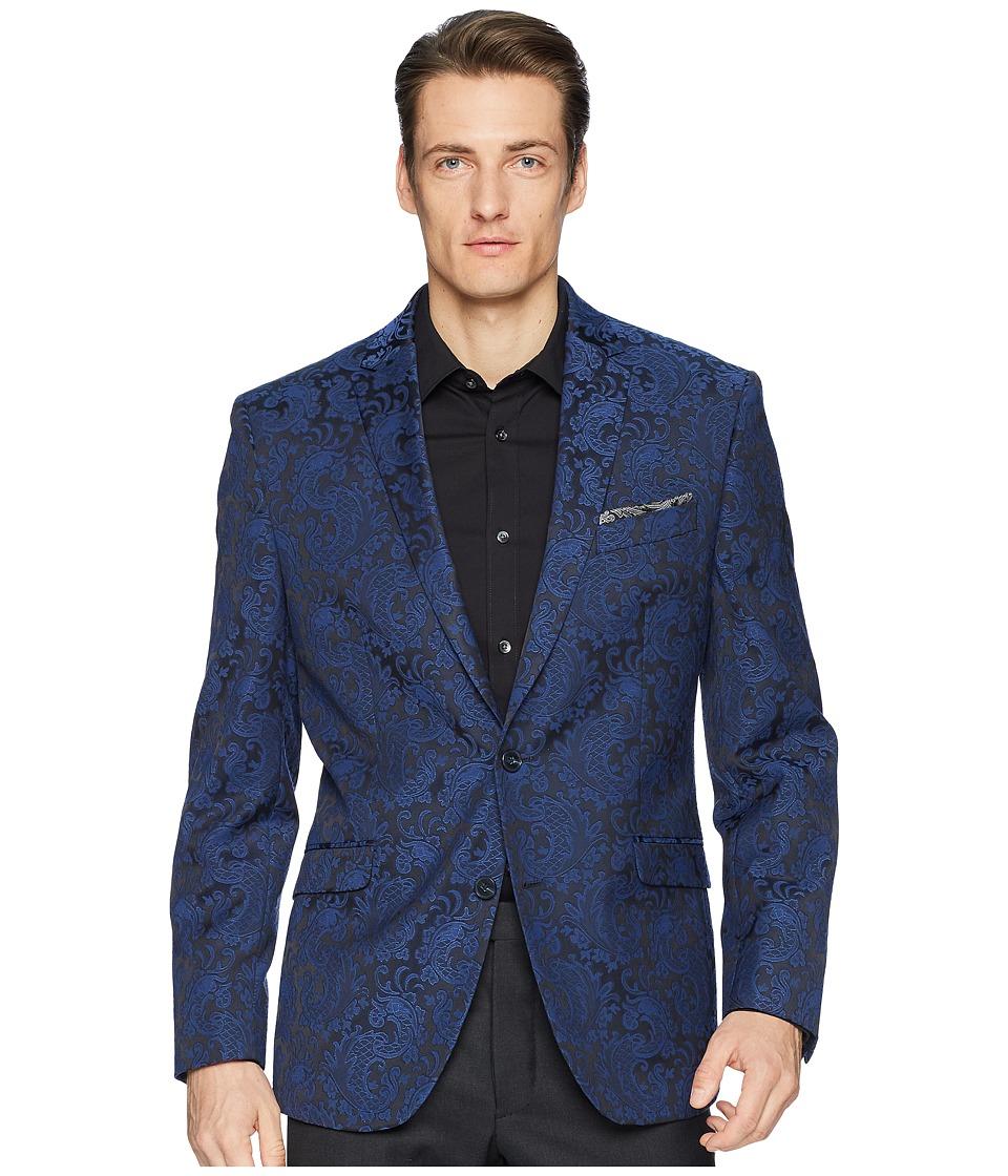 Kenneth Cole Reaction - Brocade Sport Coat (Blue) Mens Jacket