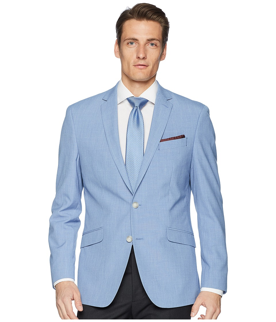 Kenneth Cole Reaction - Chambray Sport Coat (Blue) Mens Jacket