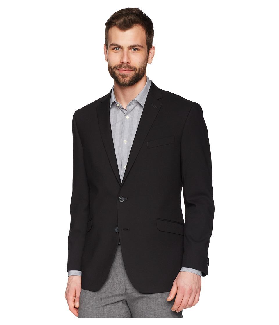 Kenneth Cole Reaction - Techni-Cole Stretch Suit Separate Coat (Black) Mens Jacket
