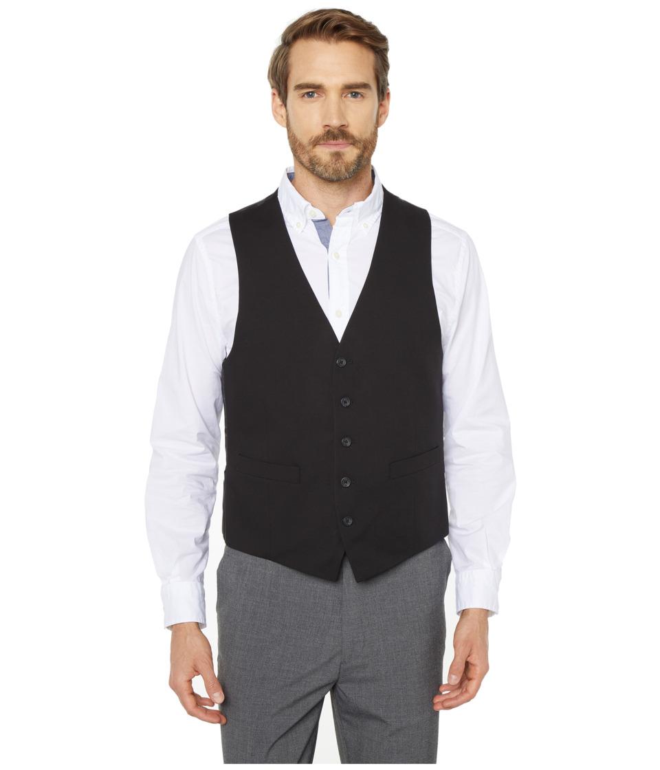 Kenneth Cole Reaction - Techni-Cole Stretch Suit Separate Vest (Black) Mens Vest
