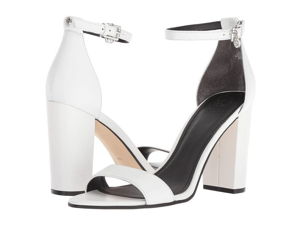 GUESS Bamboo (White Leather) Women's Shoes
