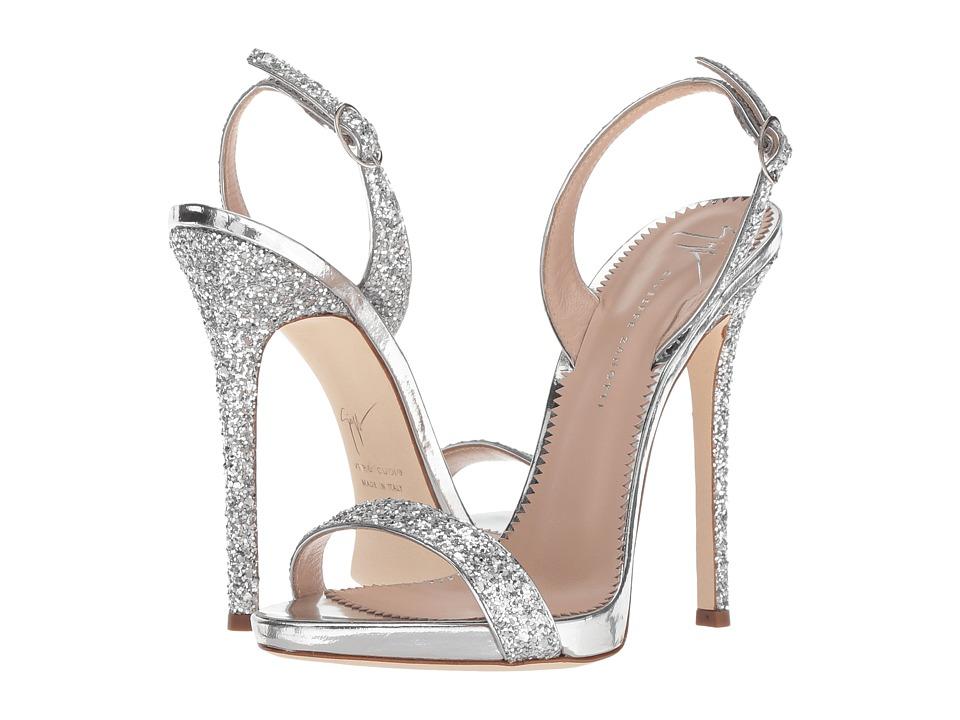 Giuseppe Zanotti Sophie (Blytter Argento) Women's Shoes