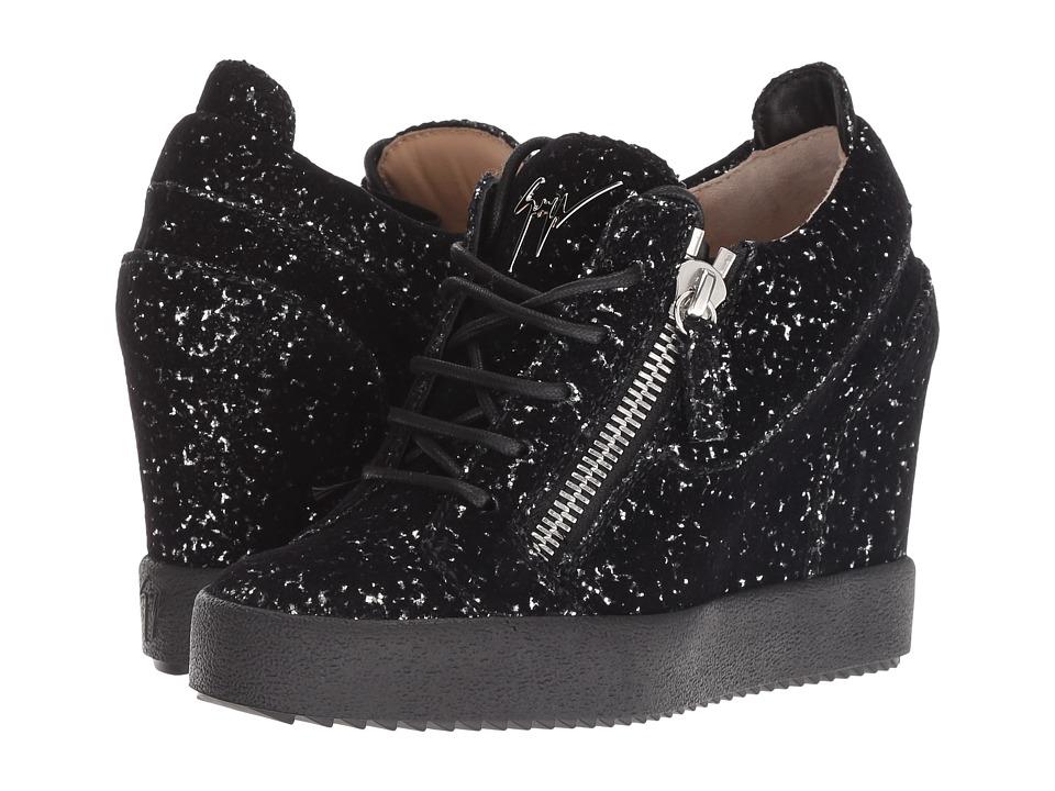 Giuseppe Zanotti RW80024 (Ghost Argento/Nero) Women's Shoes