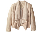 Blank NYC Kids Faux Suede Drape Front Jacket in Sunny Days (Big Kids)