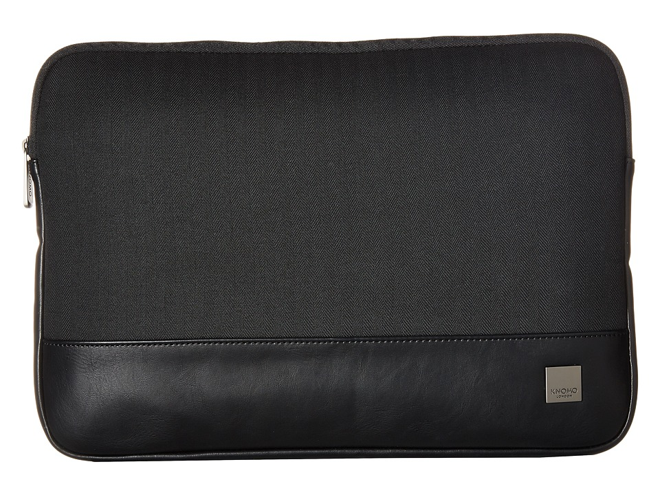 KNOMO London - Holborn 14 Laptop Sleeve (Black) Bags
