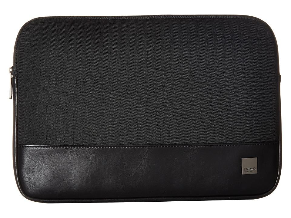 KNOMO London - Holborn 13 Laptop Sleeve (Black) Bags