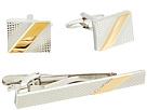 Stacy Adams Stripe Cuff Link and Tie Bar Set