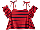 Maddie by Maddie Ziegler Tie Shoulder Top with Stripes (Big Kids)