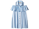 Maddie by Maddie Ziegler Front Button Shirtdress with Cold Shoulder (Big Kids)