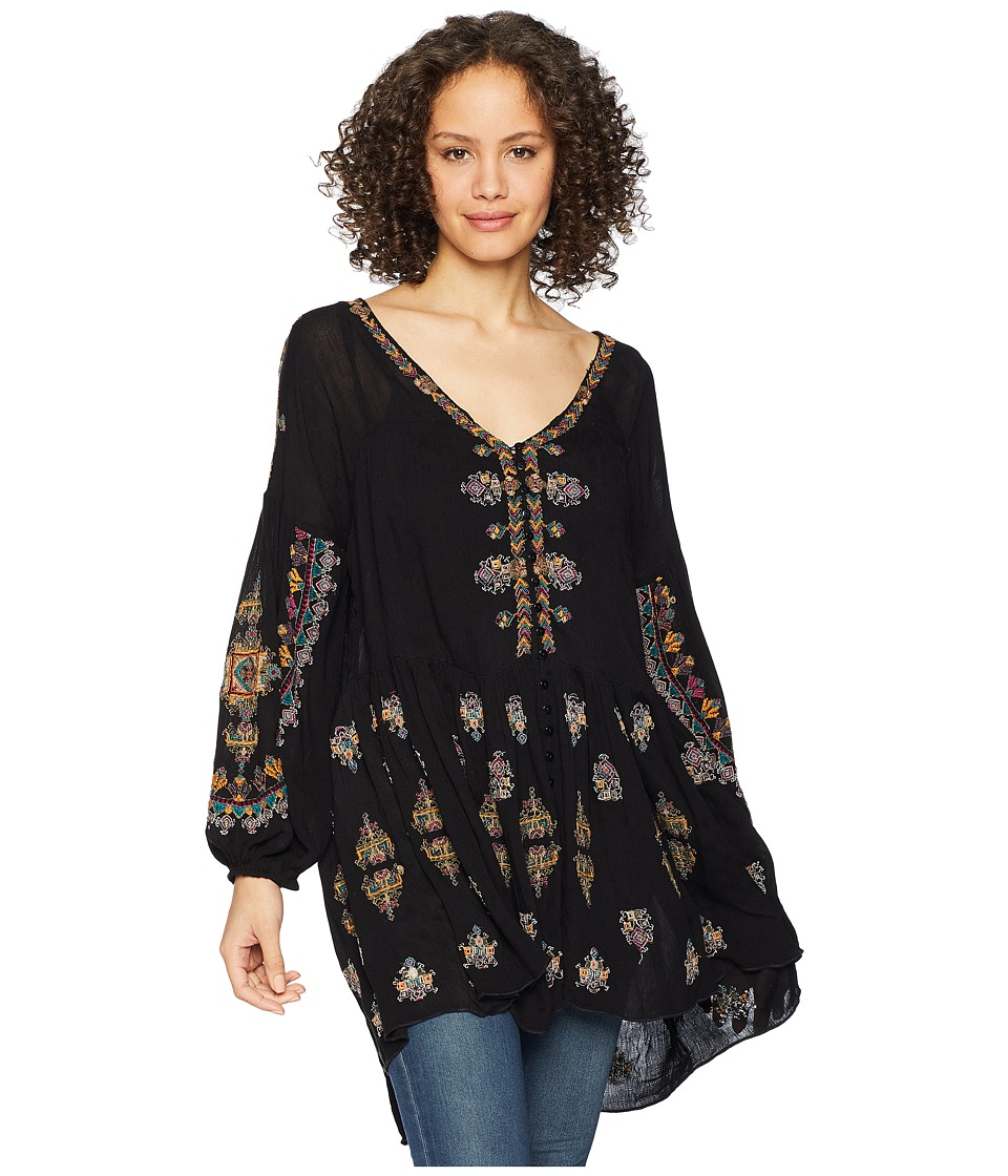Free People - Arianna Tunic (Black) Women's Blouse