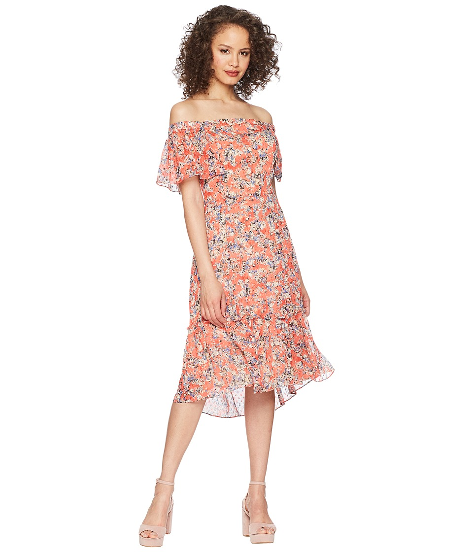 Adelyn Rae - Maisie Off the Shoulder Dress (Old Rose Multi) Womens Dress