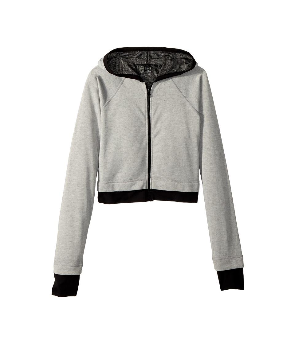 Bloch Kids Zip Hooded Jacket (Little Kids/Big Kids) (Grey) Girl