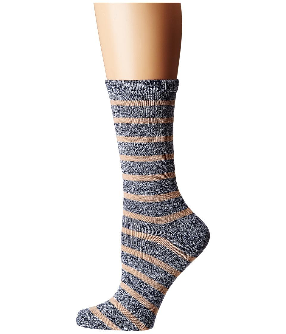 Richer Poorer - Nora (Blue Multi) Womens Crew Cut Socks Shoes