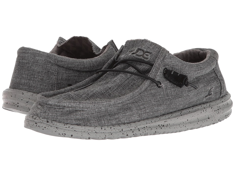 Hey Dude - Wally L Stretch (Steel 2) Mens Shoes