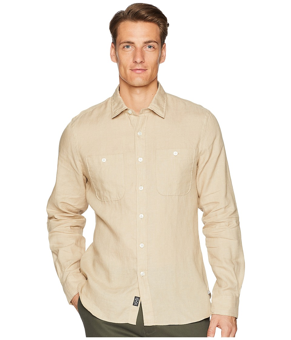 Todd Snyder - Linen Two-Pocket Shirt (Khaki) Mens Clothing