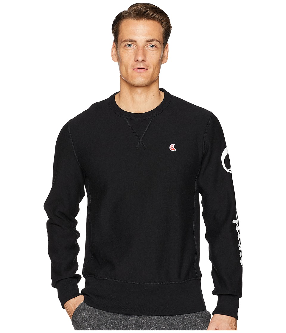 Todd Snyder + Champion - Sleeve Graphic Sweatshirt (Black) Mens Sweatshirt