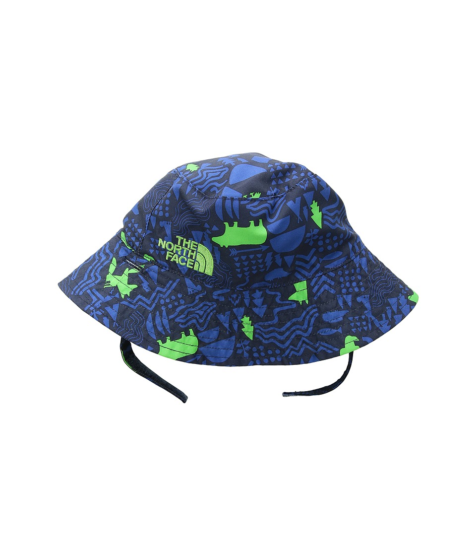 The North Face Kids - Baby Sun Bucket (Infant) (Cosmic Blue/Wild Print) Bucket Caps