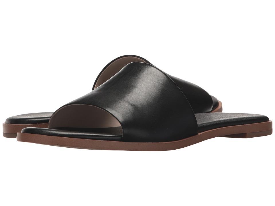 Cole Haan Anica Slide Sandal (Black Leather) Women