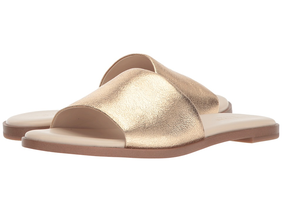 Cole Haan Anica Slide Sandal (Gold Metallic Suede) Women