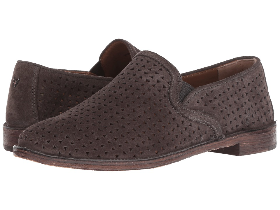 Trask Ali Perf (Gray Oiled Italian Suede) Slip-On Shoes