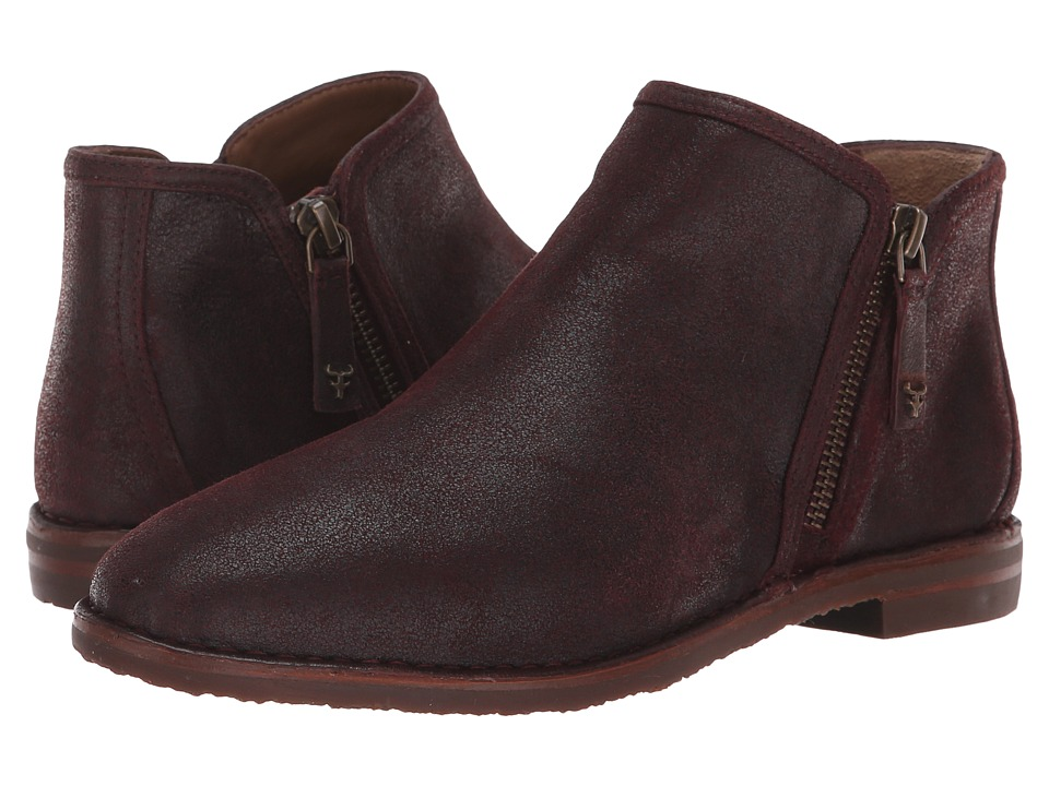 Trask Aubrey (Wine Distressed Italian Kid Suede) Women's Shoes