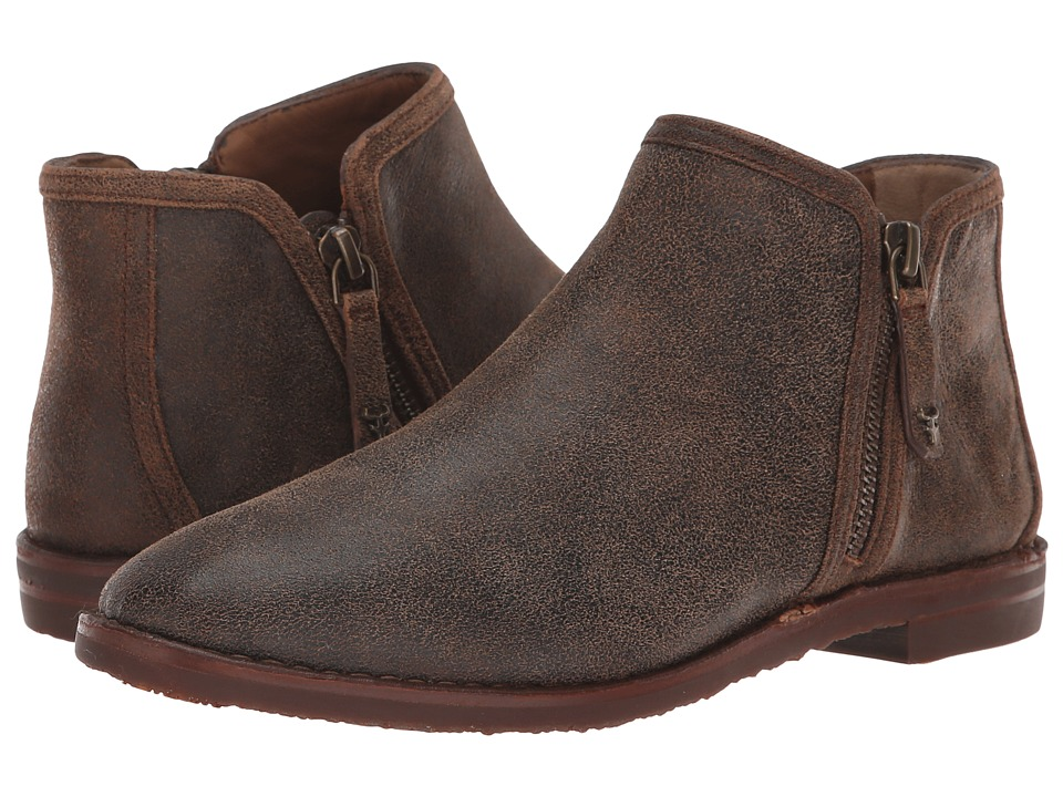 Trask Aubrey (Brown Distressed Italian Kid Suede) Women's Shoes