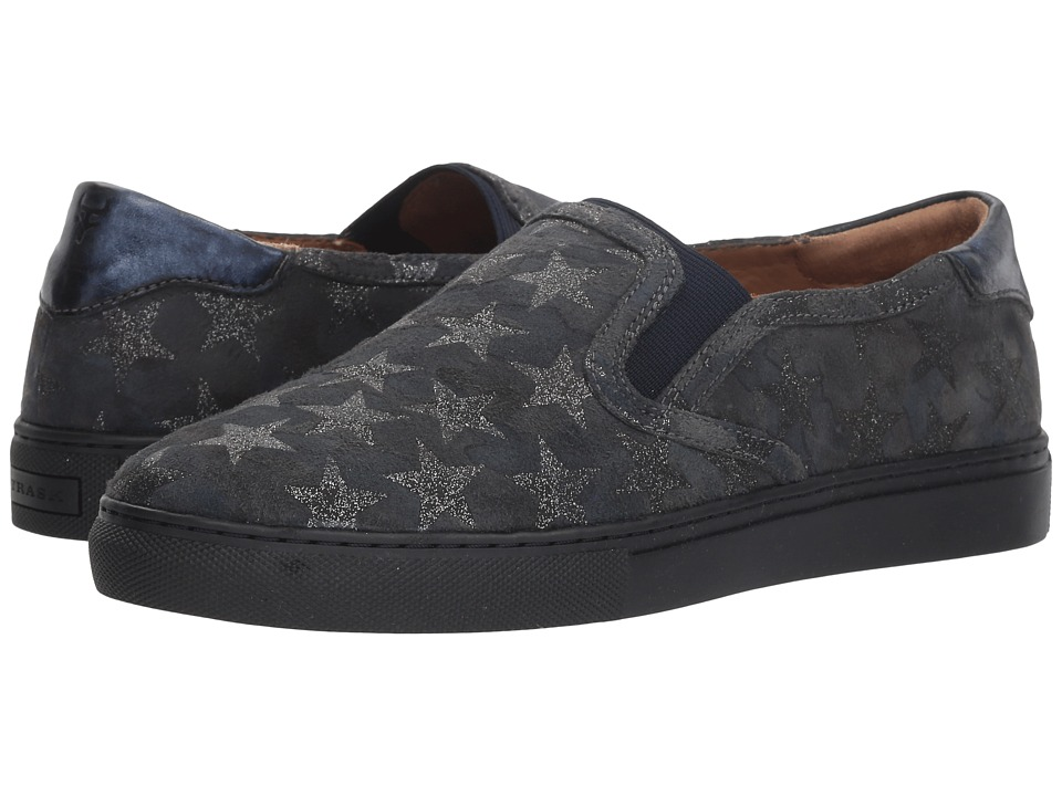 Trask Lillian (Navy Metallic Camo Star Print/Italian Suede) Slip-On Shoes
