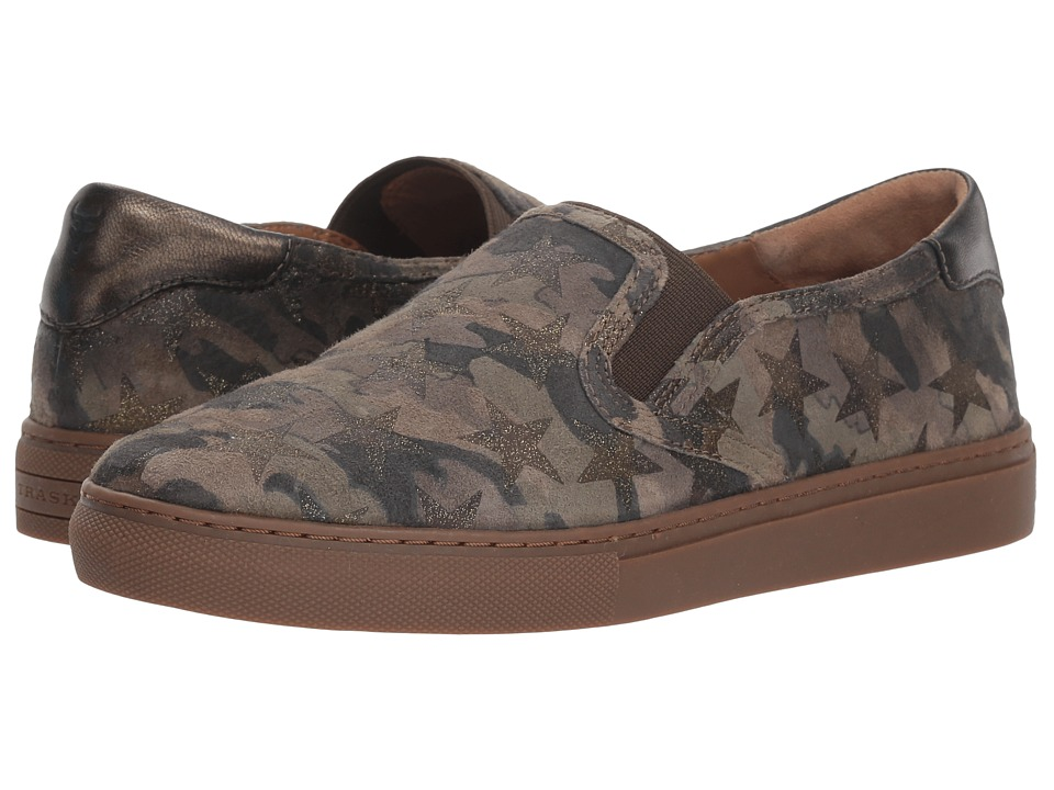 Trask Lillian (Olive Metallic Camo Star Print/Italian Suede) Slip-On Shoes