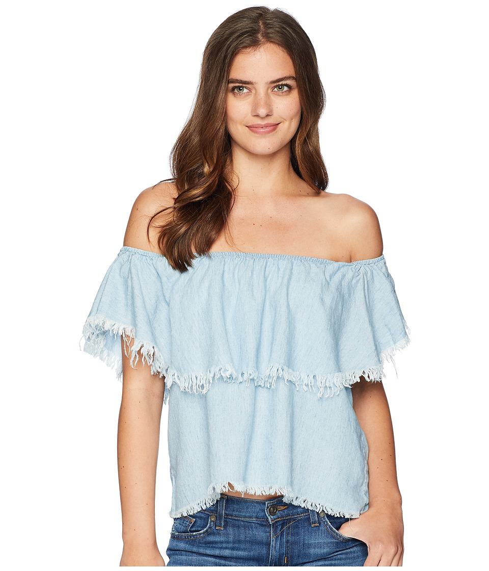 Show Me Your Mumu - Chiquita Top (Light Chambray) Womens Blouse