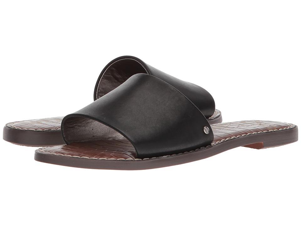 Sam Edelman - Gio (Black Antanado Leather) Womens Slide Shoes