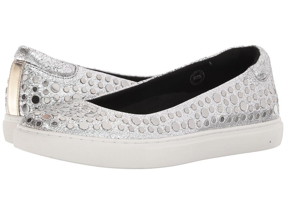 Kenneth Cole New York - Kassie Studs (Nickel Metallic Leather) Womens Slip on  Shoes