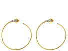 Vince Camuto Vince Camuto Round Stone Hoop Earrings