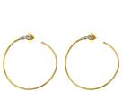 Vince Camuto Round Stone Hoop Earrings