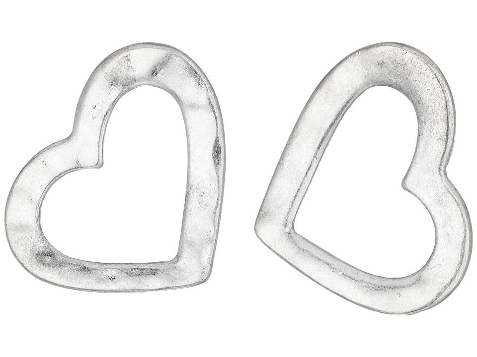 Robert Lee Morris - Silver Open Heart Stud Earrings (Shiny Silver) Earring