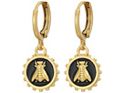 Vince Camuto Vince Camuto Bee Charm Huggie Earrings