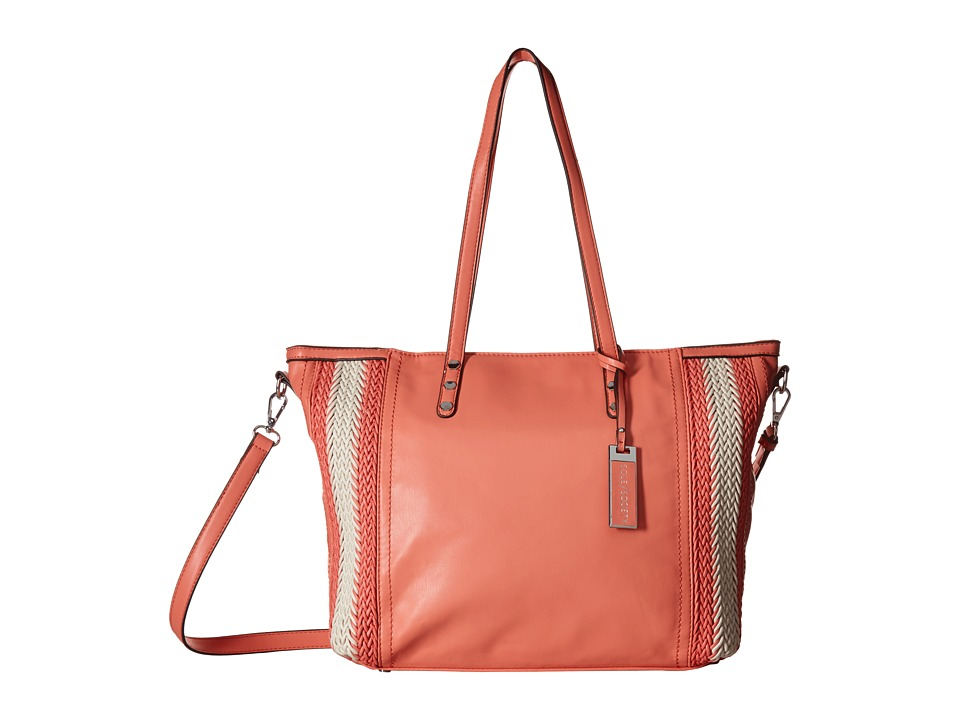 SOLE / SOCIETY - Briel Tote (Coral) Tote Handbags