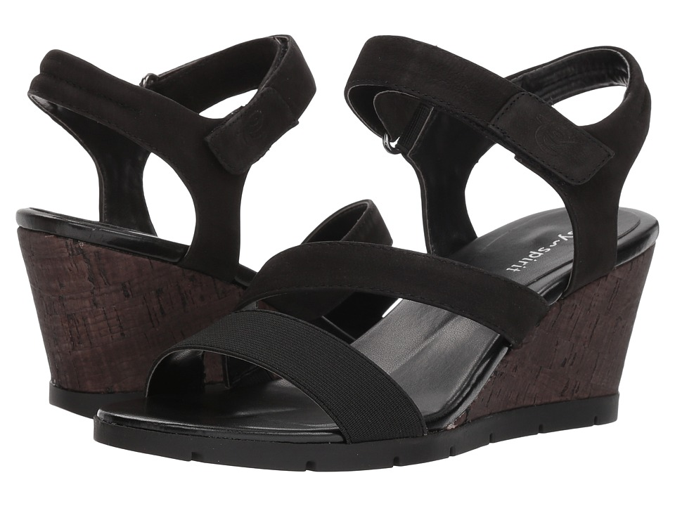 Easy Spirit - Clay (Black/Black) Womens Sandals